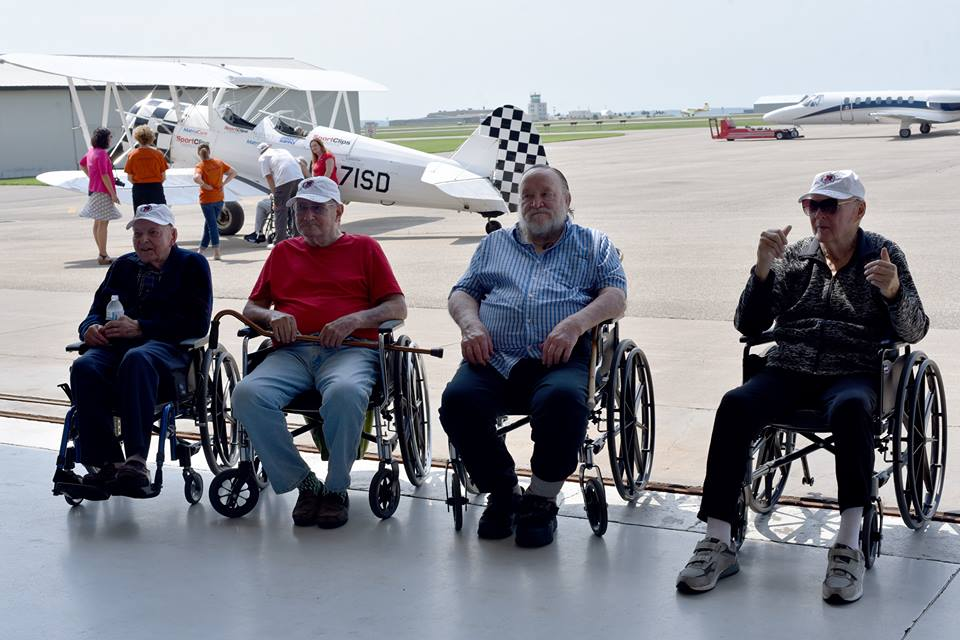 Veterans at airport