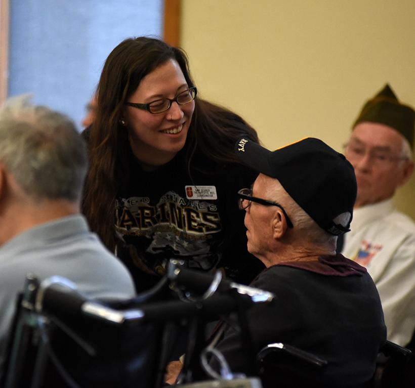 Veterans in chapel