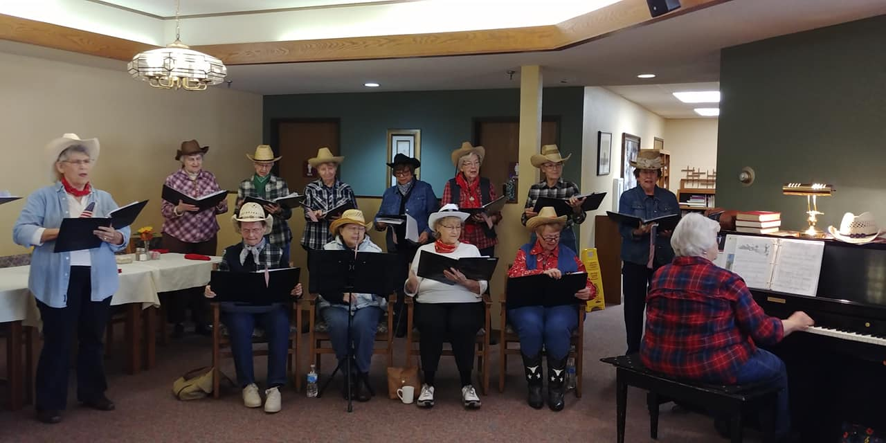 residents in cowboy band