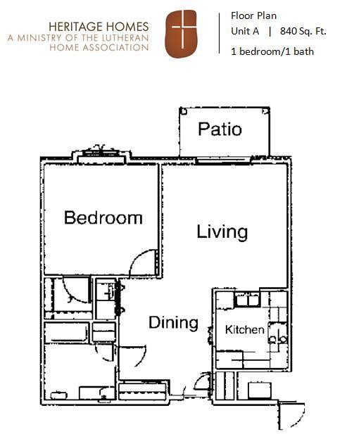 HH IL floor plan A 1bdrm