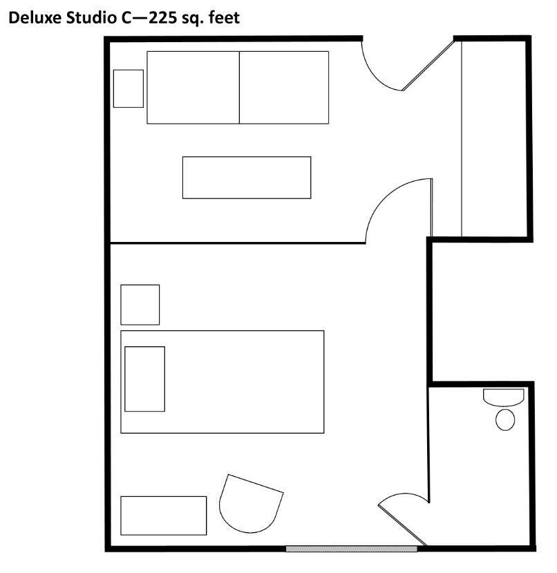 SMAL Deluxe Studio C Floorplan